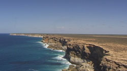 Aerial image of the Nullarbor Cliffs